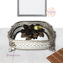 Silver Tray with Chocolates