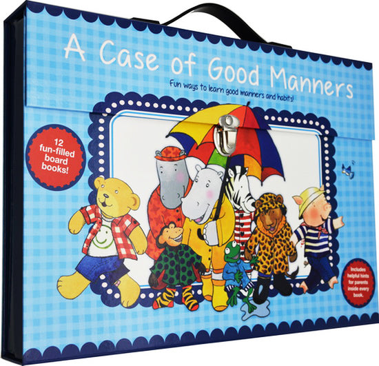 (newstock) With case included Case of good manners  set of 12 mini books Children Books