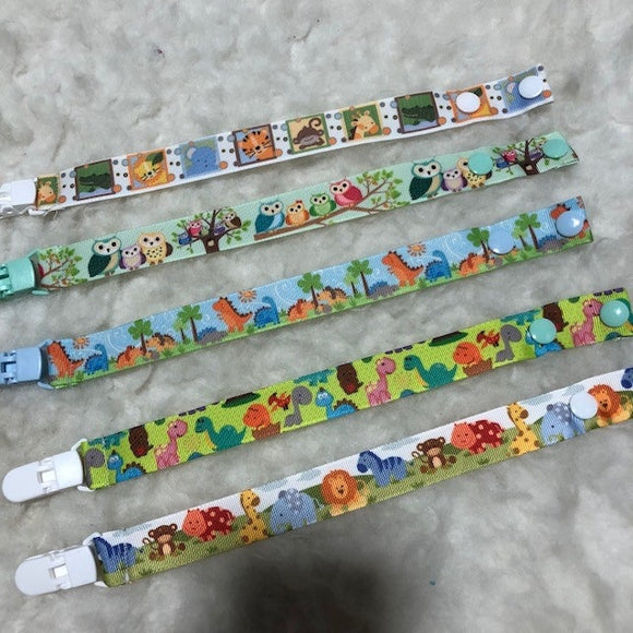 Pacifier Clips Safari and animals design