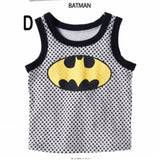 CLEARANCE uperman / Batman Singlet Boy Clothes cotton t shirt