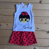 Sweet girl sleeveless set Shirt and Shorts toddler kids 1-5 yr old Girl Clothes New Arrival