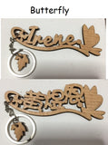 Customise Keychain with Chinese or English name 3 designs available Children Gift / teacher/ christmas