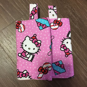 Hello Kitty with Pink Dots Drool Pad, Teething Pad, Carrier Protector