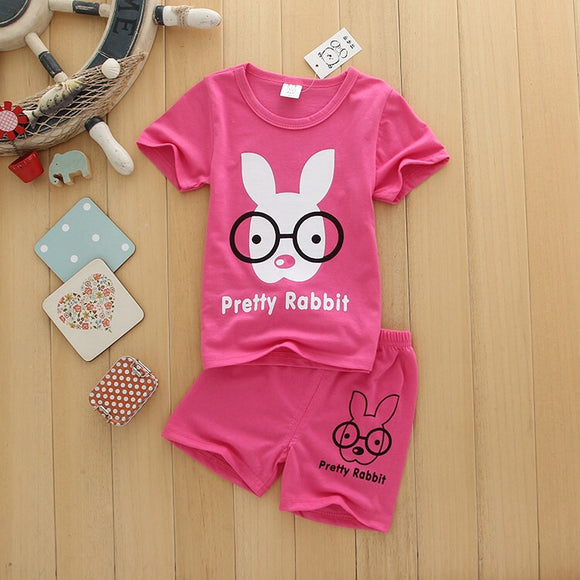 Rabbit set Shirt and Shorts toddler kids 1-4 yr old Girl Clothes New Arrival
