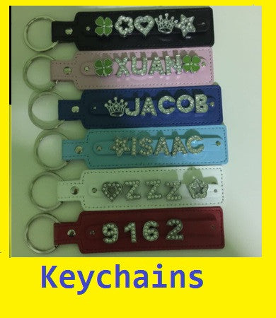 Customise Key Strap, Max 6 character, Keychain