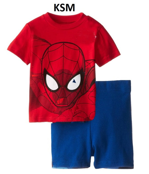 Clearance Spiderman set Boy Clothes Short sleeve shirt and Shorts cotton material