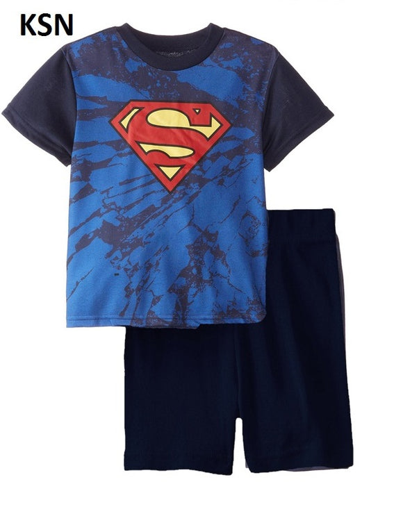 Superman set Boy Clothes Short sleeve shirt and Shorts cotton material