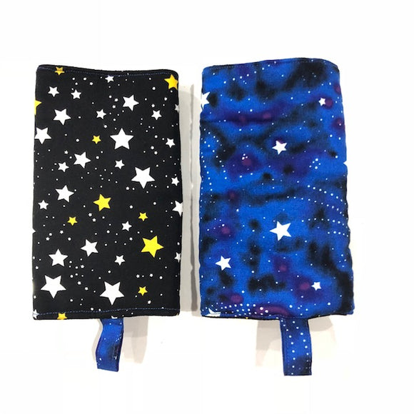 Shooting stars + Black Star drool Pad, Teething Pad, Carrier Protector