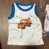Mcqueen and Mickey Singlet Boy Clothes cotton t shirt New Arrival