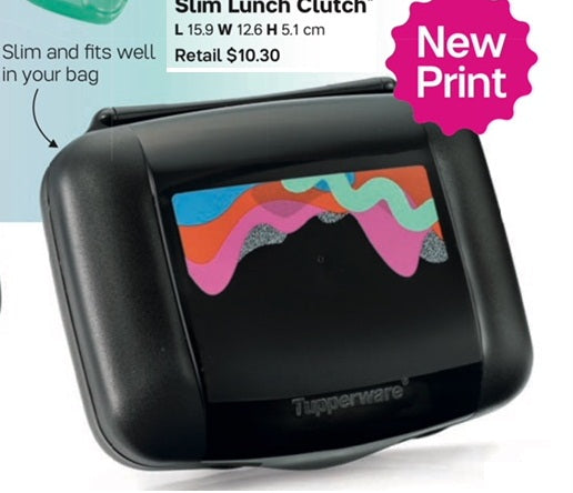 Tupperware Slim Lunch Clutch (Special Price now, usual $10.30) Teacher Children Gift