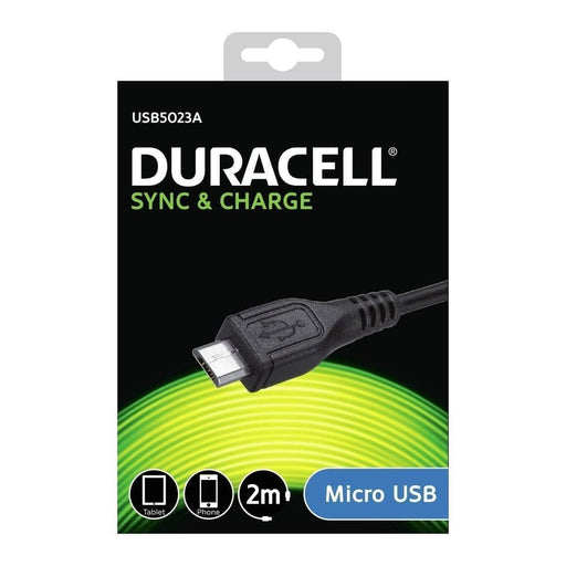 Duracell Micro USB Cable 2m (Black)_USB5023A_5055190170052_Accessory Lab