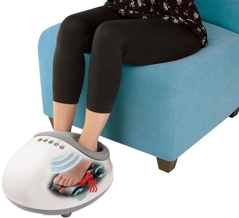 Homedics Shiatsu Air Pro Foot Massager with Heat (White)_FMS-350H-EU_0031262065575_Accessory Lab