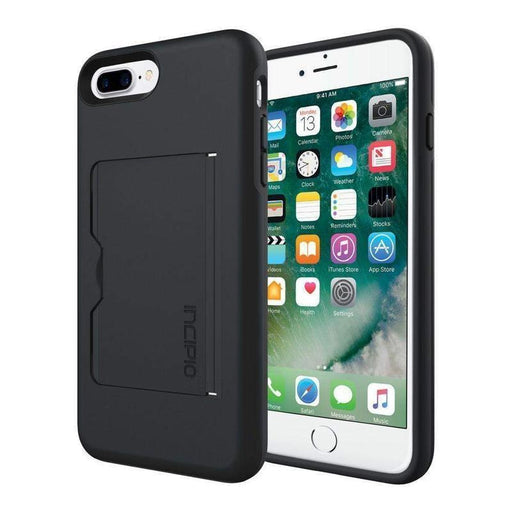 Incipio Stowaway Case iPhone 7/8 Plus Cover (Black/Black)_IPH-1503-BLK_840076184828_Accessory Lab