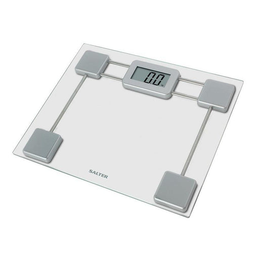 Salter Compact Glass Digital Bathroom Scale (Silver)_9081 SV3R_5010777133806_Accessory Lab