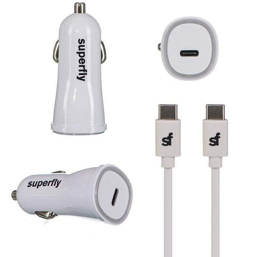 Superfly Car Charger Kit (Type C) (White)_SFC2-3413KIT3WHT_4036957402136_Accessory Lab