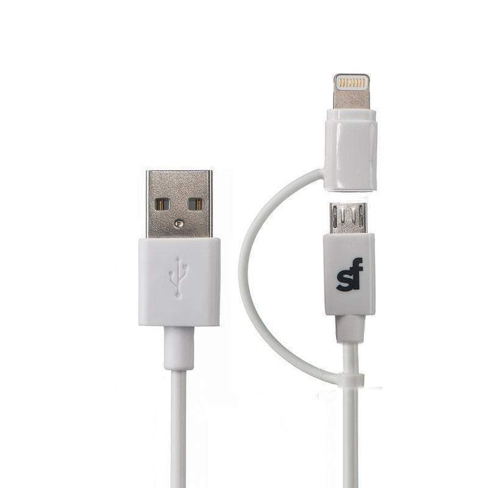 Superfly Premium 2-in-1 Lightning to Micro USB Adaptor Cable 1.2 meter (White)_SF-LT-AD-J8_0707273440839_Accessory Lab