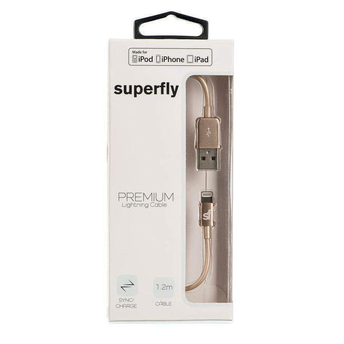 Superfly Premium Lightning Cable 1.2 Meter (Gold)_SFLT-LT97GLD_0707273440792_Accessory Lab