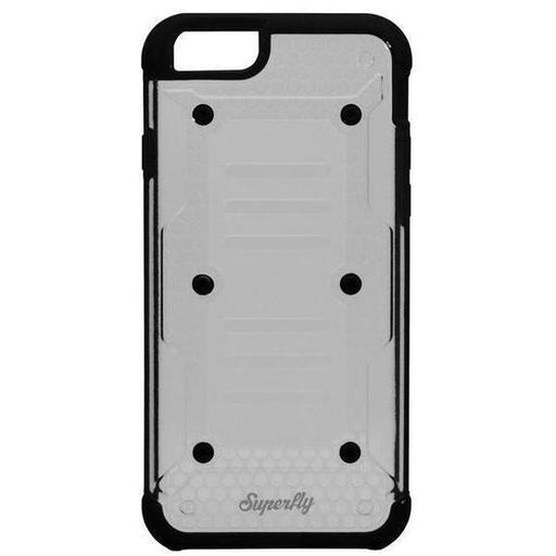 Superfly Soft Jacket Ion iPhone 6/6S Cover (Black/Clear)_SF-INIP6SBLKCLR_0700083209382_Accessory Lab