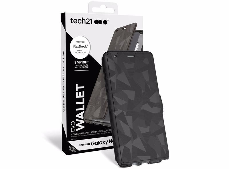 timeless design 83b23 84cf0 Tech21 Evo Wallet Samsung Galaxy Note 8 Cover (Black)