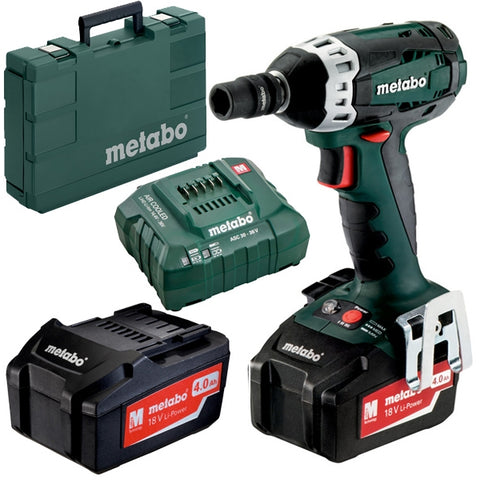 "METABO 18 VOLT IMPACT WRENCH 1/2"" DRIVE 200nm 4.0ah KIT"