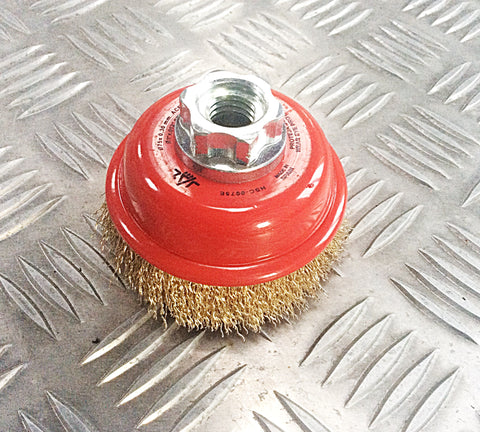 75mm CUP TYPE ROTARY WIRE BRUSH