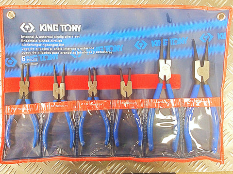 KING TONY 6PC CIRCLIP PLIER SET