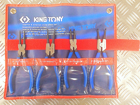 KING TONY 4PC CIRCLIP PLIER SET