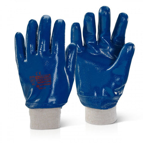 NITRILE KNIT WRIST GLOVES