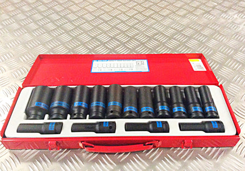 "KING TONY 1/2"" DRIVE DEEP IMPACT SOCKET SET"
