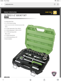 "JEFFERSON 1/2"" DRIVE SOCKET SET"