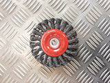 JAZ 115mm KNOTTED ROTARY WIRE BRUSH