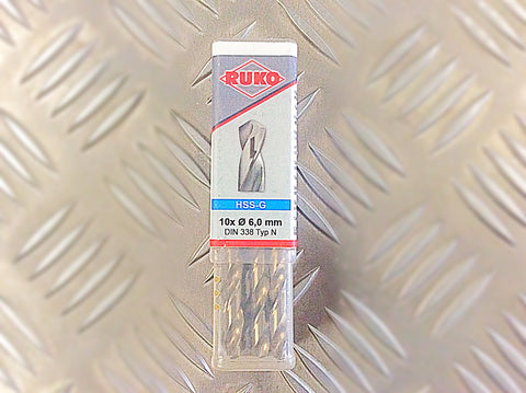 6.0mm GROUND HSS DRILL BITS PACK OF 10