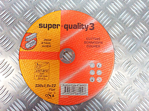 "SUPER QUALITY 3 SKINNY 9"" CUTTING DISK"