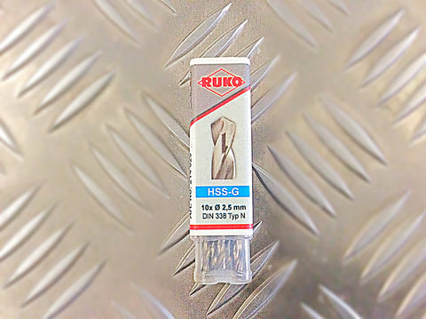 2.5mm GROUND HSS DRILL BITS PACK OF 10