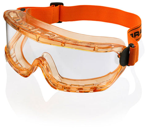 AMBER FRAME SAFETY GOGGLES