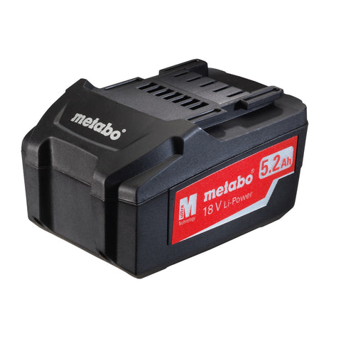 METABO 18 VOLT LITHIUM ION BATTERY 5.2ah