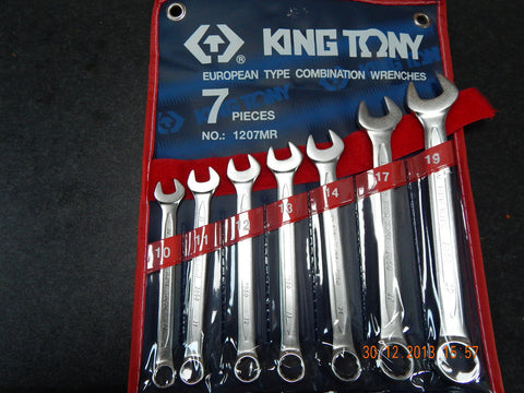KING TONY 1207MR 7pc SPANNER SET 10-19mm