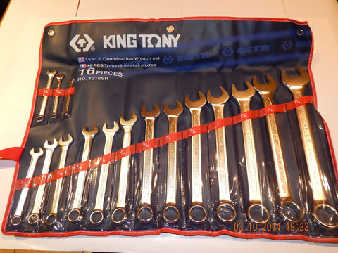 KING TONY 14pc IMPERIAL COMBINATION SPANNER SET