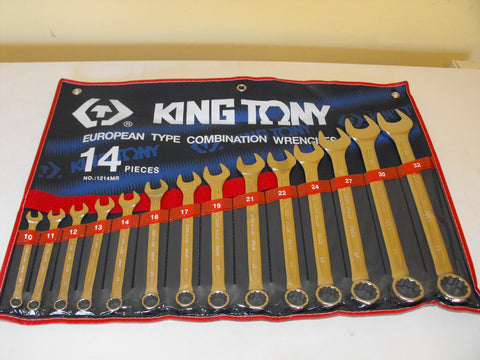 KING TONY 14pc METRIC SPANNER SET 10-32mm