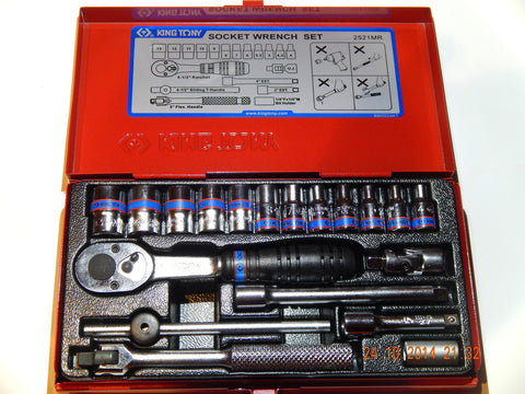 "KING TONY 19 PIECE 1/4"" DRIVE METRIC SOCKET SET"