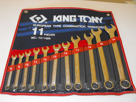 KING TONY 11pc METRIC SPANNER SET 8-24mm