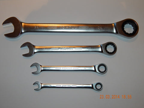 METRIC RATCHET SPANNERS