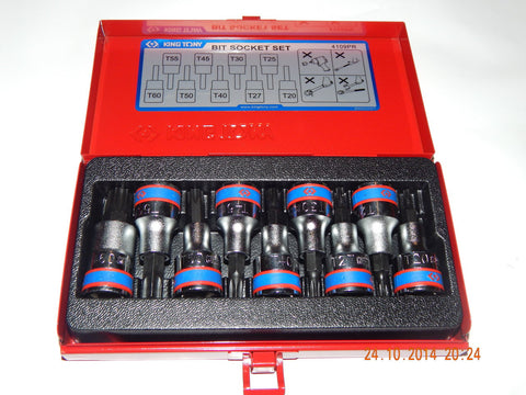 "KING TONY 1/2"" DRIVE 9 PIECE TORX KEY SET"