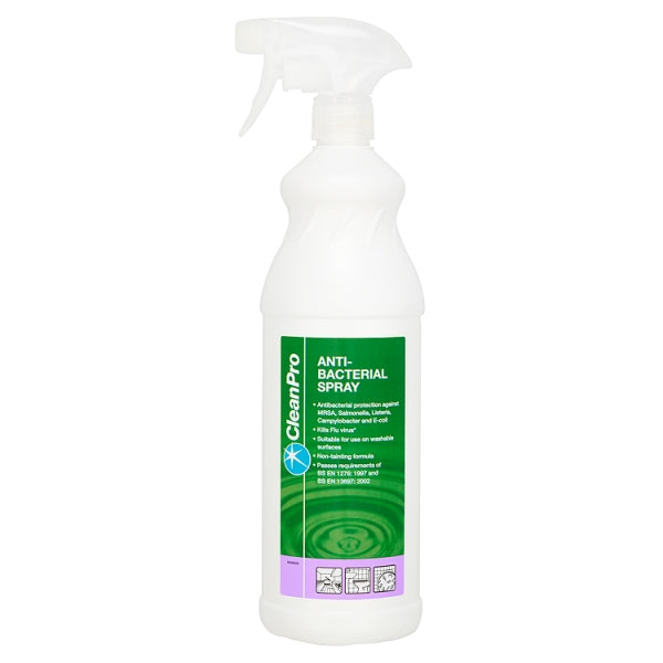Clean Pro Anti-Bacterial Spray 1 Litre