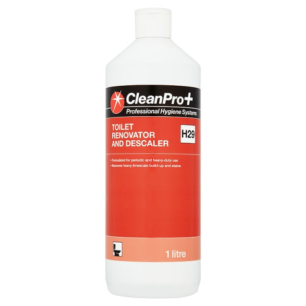 Clean Pro+ Toilet Renovator and Descaler 1 Litre