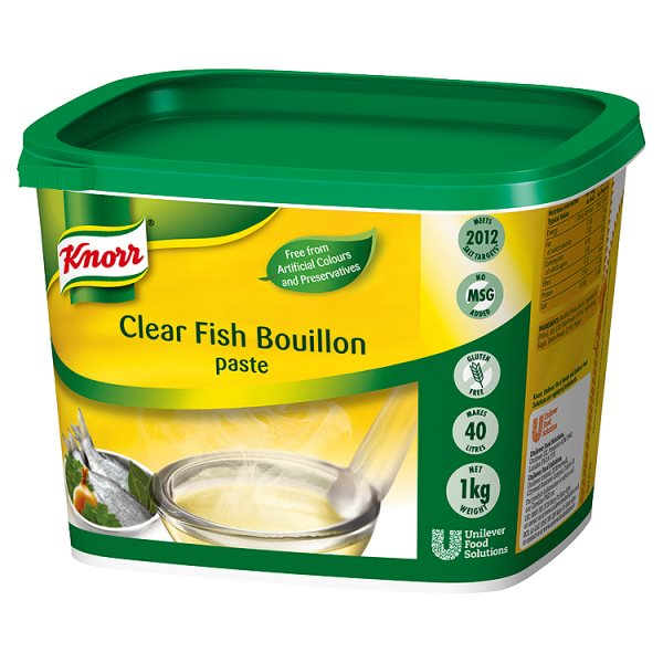 Knorr Gluten Free Clear Fish Paste Bouillon 1kg Tub