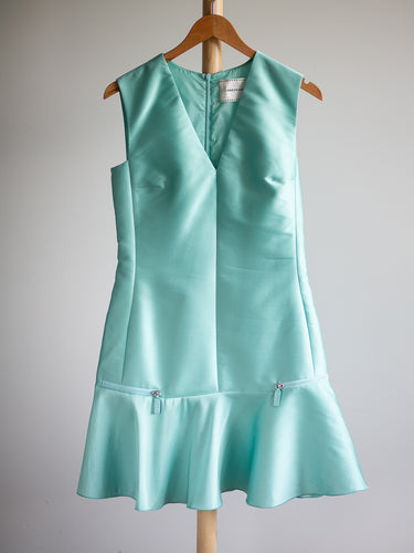 Longchamp turquoise dress - De'Žavu Boutique