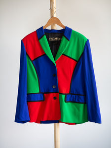 Escada vintage multicolor blazer - De'Žavu Boutique