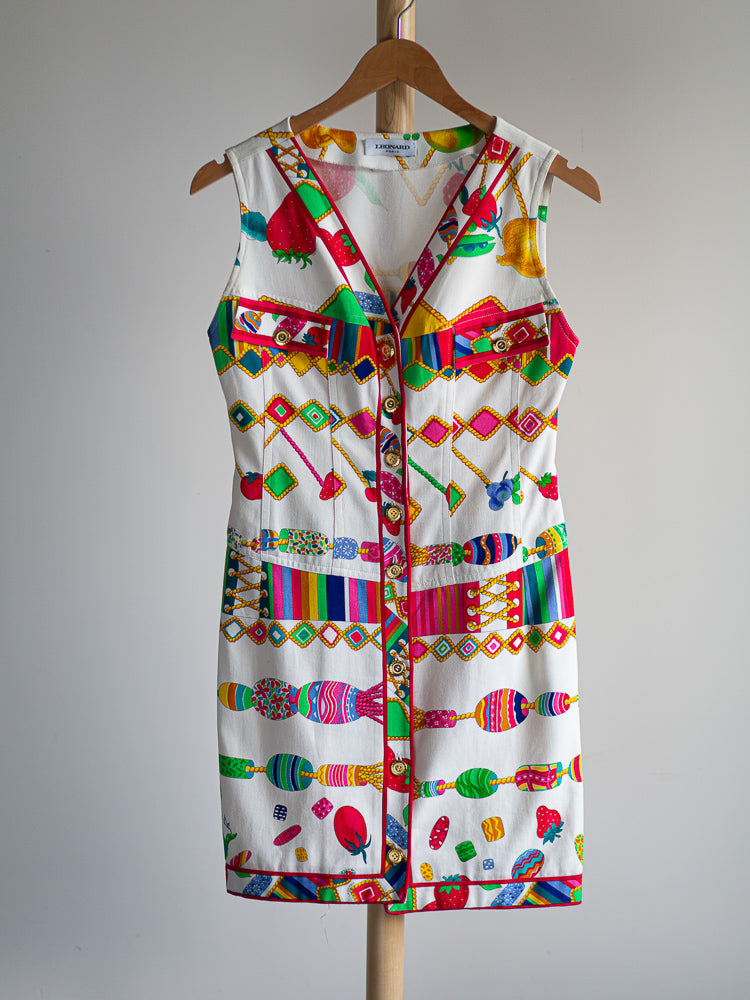 Leonard multicolor cotton dress - De'Žavu Boutique