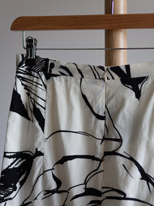 MaxMara black and white cotton skirt - De'Žavu Boutique